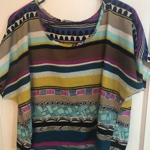 Charlotte Russe patterned blouse